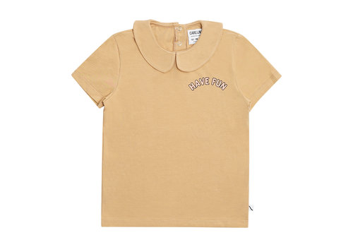 CarlijnQ CarlijnQ Have fun - t-shirt collar with print