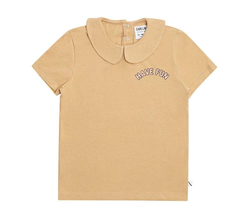 CarlijnQ Have fun - t-shirt collar with print