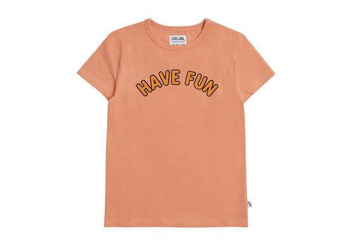 CarlijnQ CarlijnQ Have fun - t-shirt with print pink