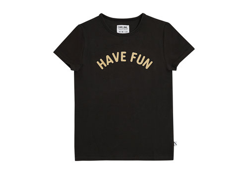 CarlijnQ CarlijnQ Have fun - t-shirt with print black