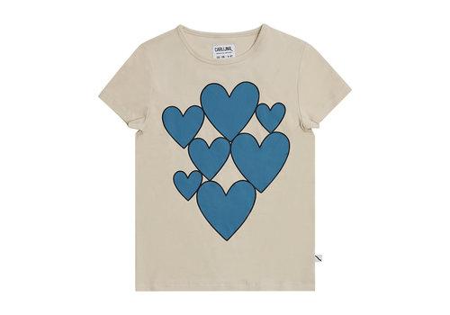 CarlijnQ CarlijnQ Hearts - t-shirt with print