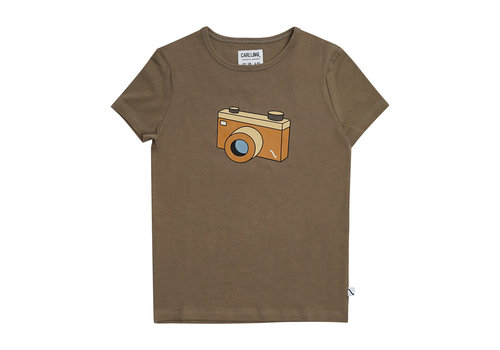 CarlijnQ CarlijnQ Photo Camera - t-shirt with print brown