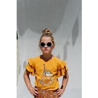 CarlijnQ Lemonade - ruffled t-shirt with print