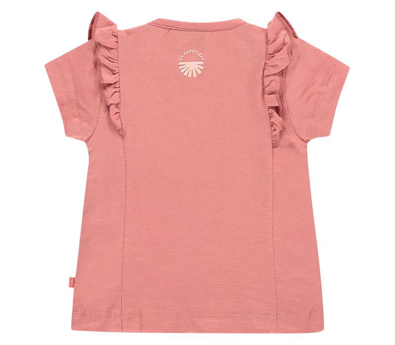 Babyface baby girls t-shirt short sleeve/rusty pink/P21/4 NWB21128610-004