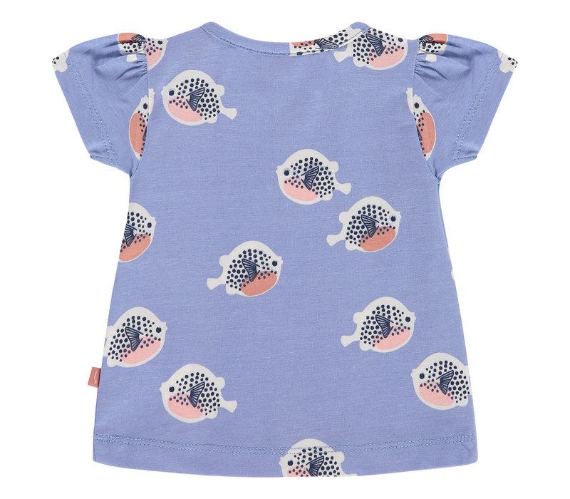 Babyface baby girls t-shirt short sleeve/lavender blue/P21/4 NWB21228646-004
