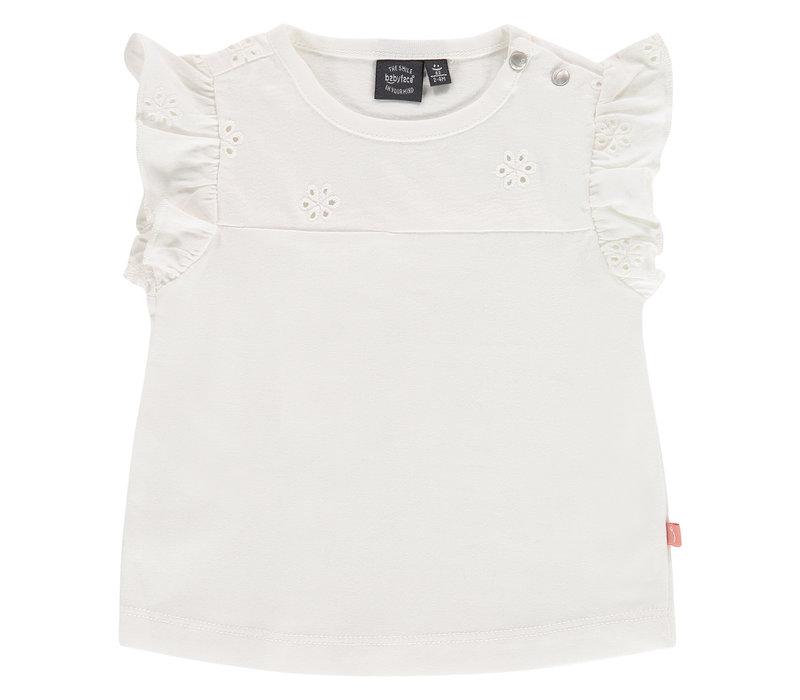 Babyface baby girls t-shirt short sleeve/creme/P21/4 NWB21228647-004