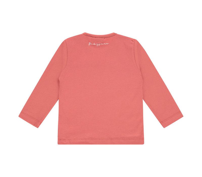 Babyface girls t-shirt long sleeve faded rose BBE21108604