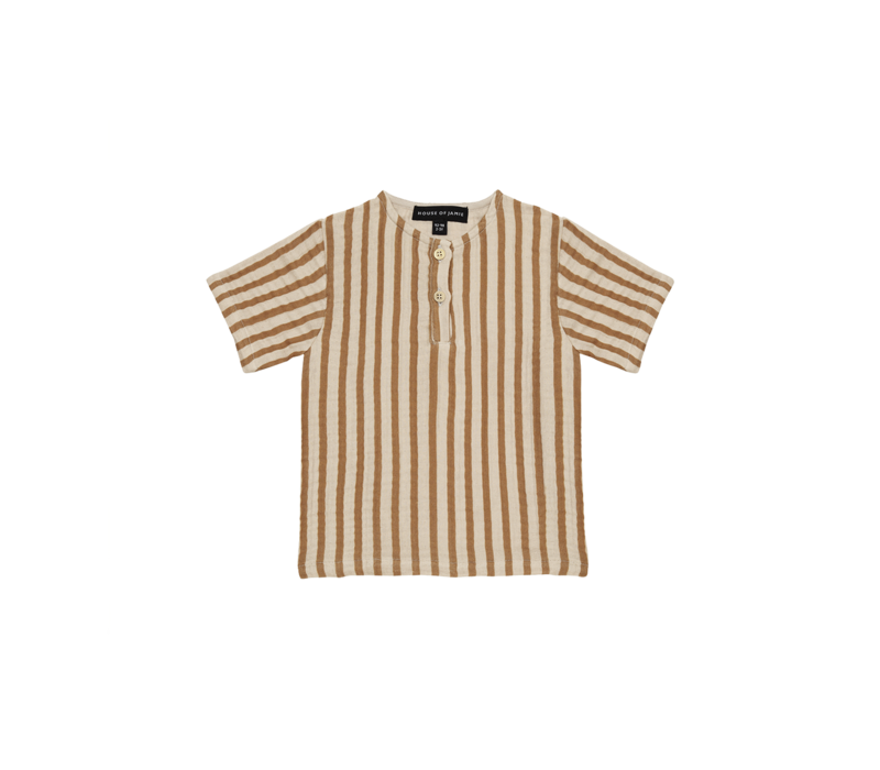 House of Jamie Henley Shirt Vertical Apple Cider Stripes