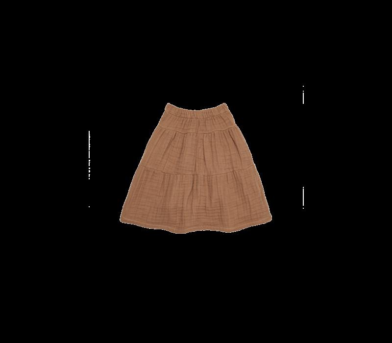 House of Jamie Midi Skirt Burnt Ginger