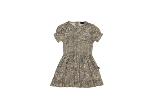 House of Jamie House of Jamie Frill Dress Charcoal Little Leopard