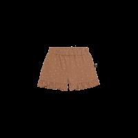 House of Jamie Ruffled Shorts Burnt Ginger Dots