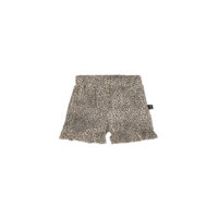 House of Jamie Ruffled Shorts Charcoal Little Leopard