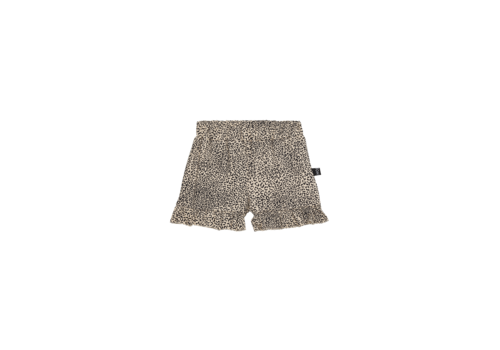 House of Jamie House of Jamie Ruffled Shorts Charcoal Little Leopard