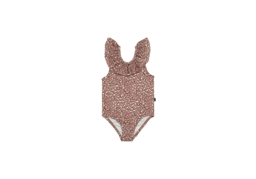 House of Jamie House of Jamie Frill Swimsuit Rose Dawn Leopard