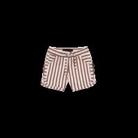 House of Jamie Swim Gym Shorts Baked Clay Stripes