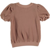 My Little Cozmo ORGANIC COTTON WAFFLED TOP TERRA COTTA