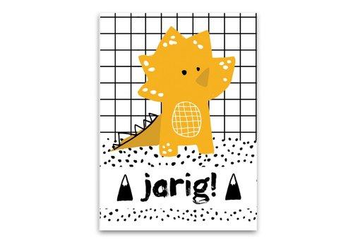 Pepermints wenskaart Dino (jarig)