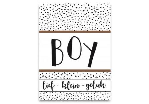 Pepermints wenskaart Lief geluk (boy)