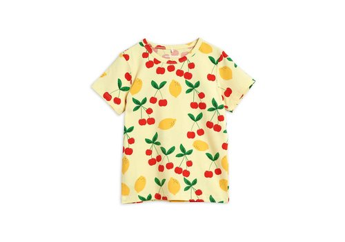 Mini Rodini Mini Rodini Cherry lemonade aop ss tee Yellow