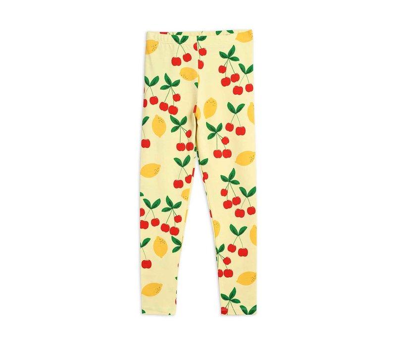 Mini Rodini Cherry lemonade aop leggings Yellow