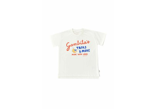 Tinycottons Tinycottons GAMBITA'S GRAPHIC TEE  off-white/red