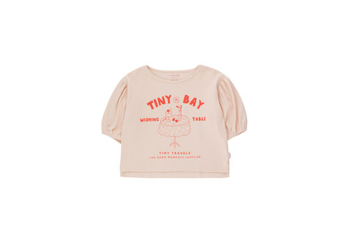 Tinycottons Tinycottons WISHING TABLE BLOUSE  pastel pink/red