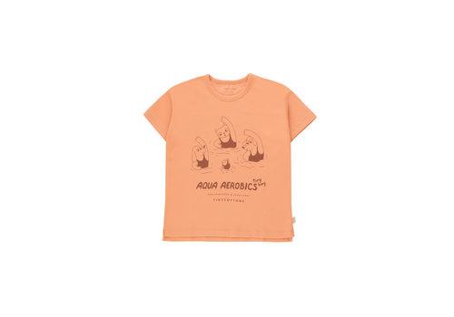Tinycottons Tinycottons AQUA AEROBICS TEE  light papaya/nut brown
