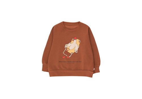 Tinycottons Tinycottons BIRD SWEATSHIRT  nut brown/yellow