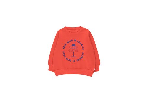 Tinycottons Tinycottons WISHING TABLE SWEATSHIRT  red/iris blue