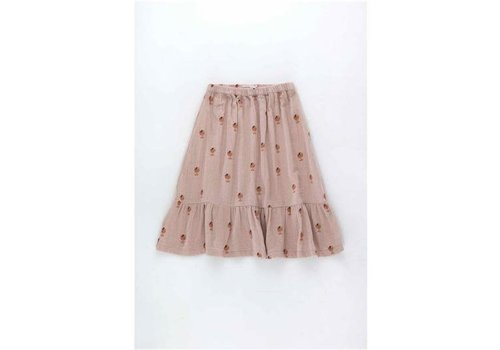 Tinycottons Tinycottons ICE CREAM CUP LONG SKIRT  dusty pink/papaya