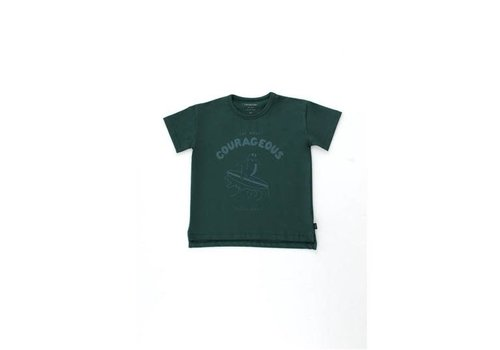 Tinycottons Tinycottons COURAGEOUS TEE  ink blue/dark teal