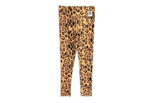Mini Rodini Mini Rodini Basic leopard leggings Beige