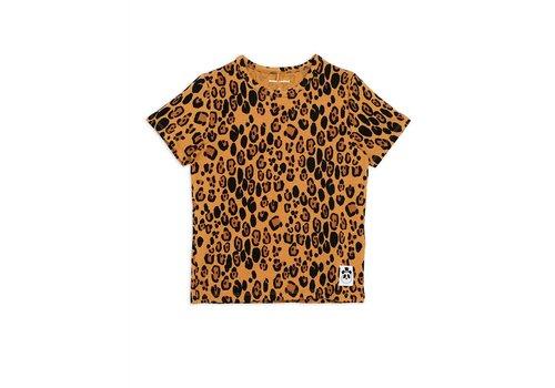 Mini Rodini Mini Rodini Basic leopard ss tee Beige