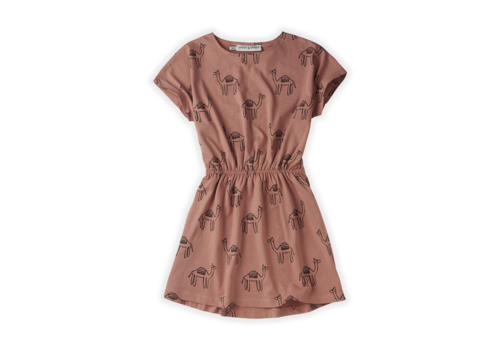Sproet & Sprout Sproet & Sprout Skater Dress Print Camel Rose