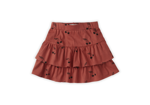 Sproet & Sprout Sproet & Sprout Skirt Ruffle Print Cherry red