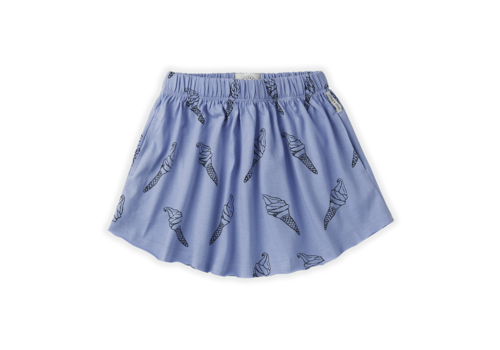 Sproet & Sprout Sproet & Sprout Skirt Print Icecream Bright Blue