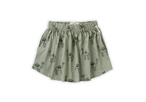 Sproet & Sprout Sproet & Sprout Skirt Print Camel Eucalyptus