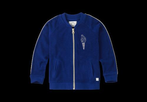 Sproet & Sprout Sproet & Sprout Track Jacket Icecream Bandit Cobalt Blue