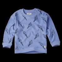 Sproet & Sprout Sweatshirt Terry Print Icecream Bright Blue