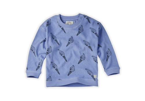 Sproet & Sprout Sproet & Sprout Sweatshirt Terry Print Icecream Bright Blue