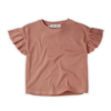 Sproet & Sprout Sproet & Sprout T-Shirt Rib Ruffle Rose Rose