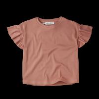 Sproet & Sprout T-Shirt Rib Ruffle Rose Rose