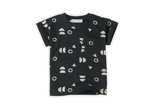 Sproet & Sprout Sproet & Sprout T-shirt Print Abstract Asphalt Asphalt