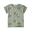 Sproet & Sprout Sproet & Sprout T-shirt Print Snake Eucalyptus
