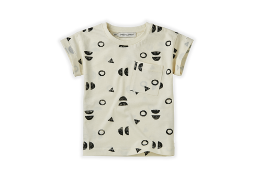 Sproet & Sprout Sproet & Sprout T-shirt Print Abstract White Summer