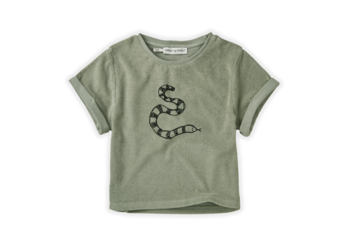 Sproet & Sprout Sproet & Sprout Sweat T-shirt Terry Snake Eucalyptus
