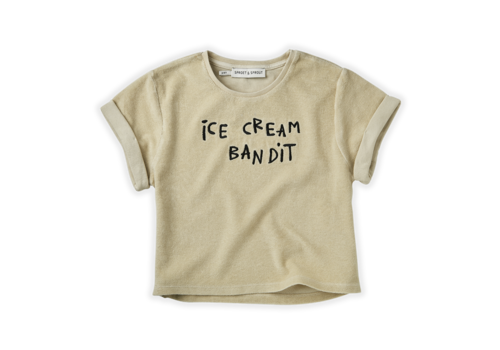 Sproet & Sprout Sproet & Sprout Sweat T-shirt Terry Icecream Bandit Sesam
