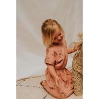 Sproet & Sprout Skater Dress Print Camel Rose