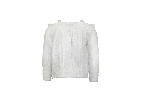 Moodstreet Moodstreet MT blouse broderie Warm White