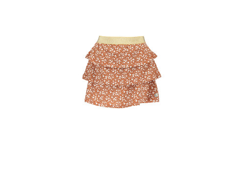 Moodstreet Moodstreet MT skirt with frills AO min flower Toffee